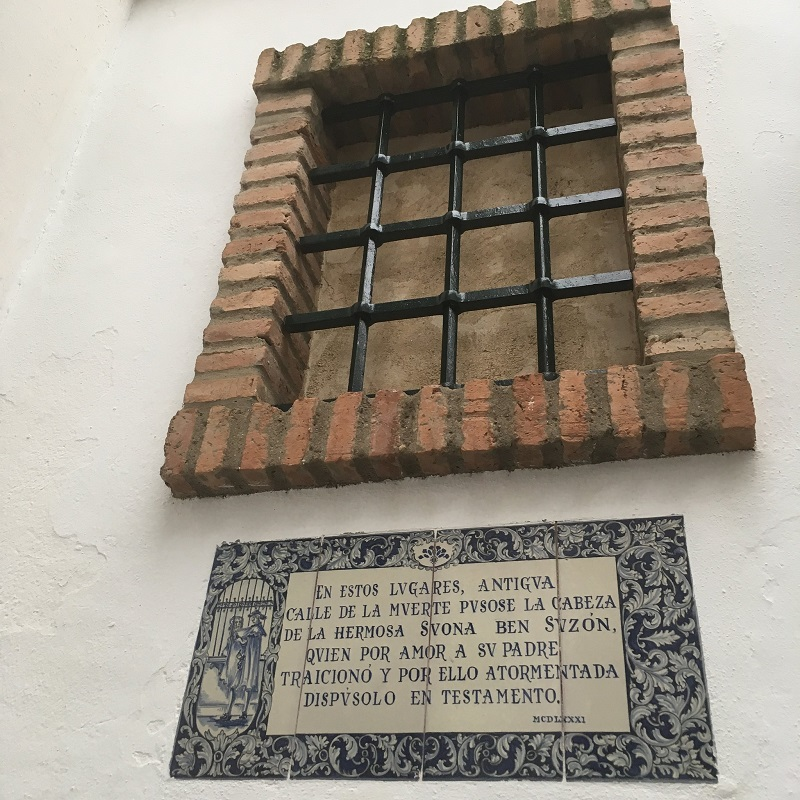 The legend of Susona, Barrio Santa Cruz, Seville, Spain