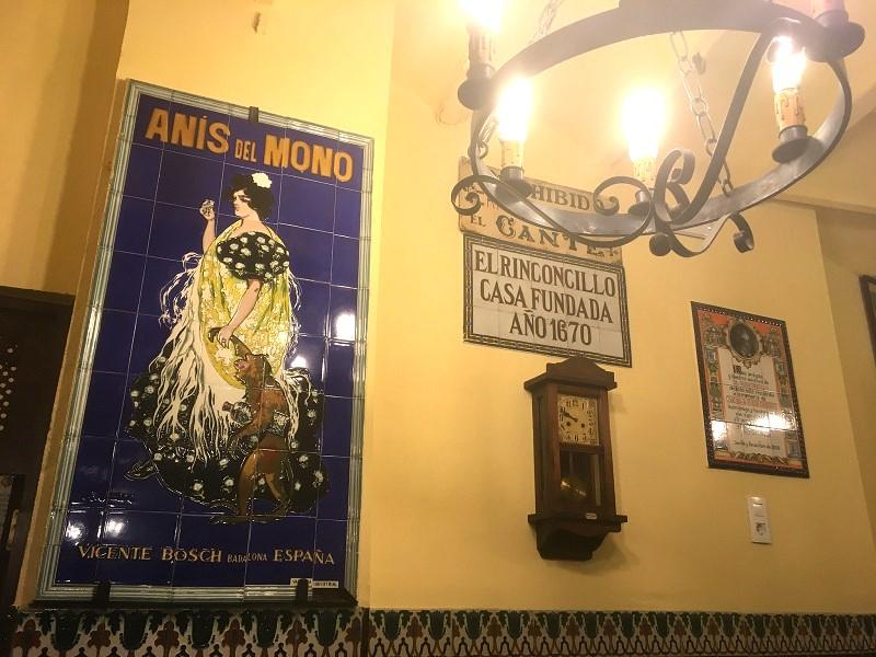 El Rinconcillo, the oldest bar in Seville, Spain