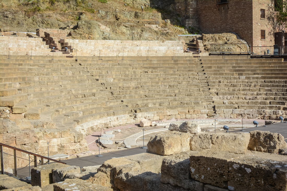 The Roman Theatre in Malaga, Spain