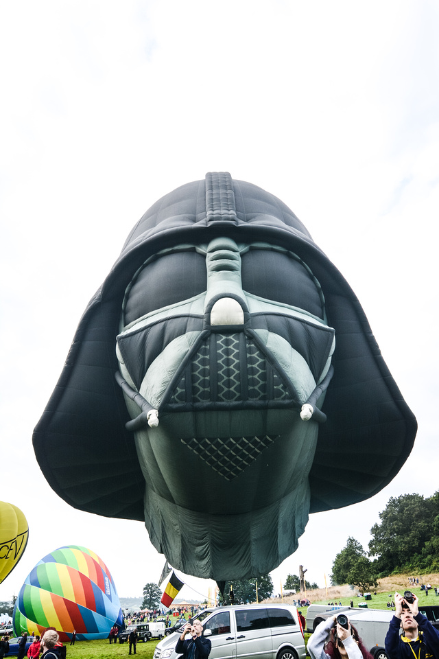 The Darth Vader balloon at Bristol Balloon Fiesta