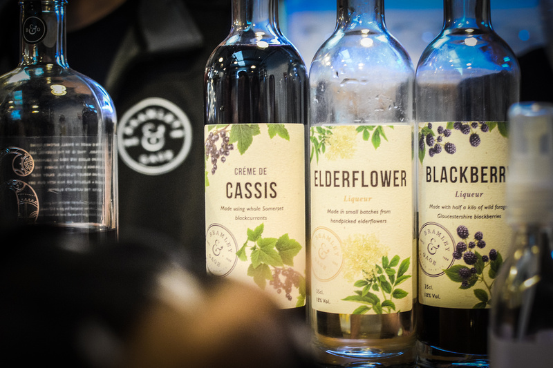 We tried some of the delicious fruit liqueurs prepared by Bramley and Gage