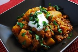 Crockpot Pumpkin Lentil Stew