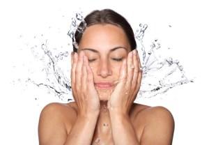 Woman Splash Face