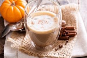 Pumpkin spice latte with spiced pumpkin butter