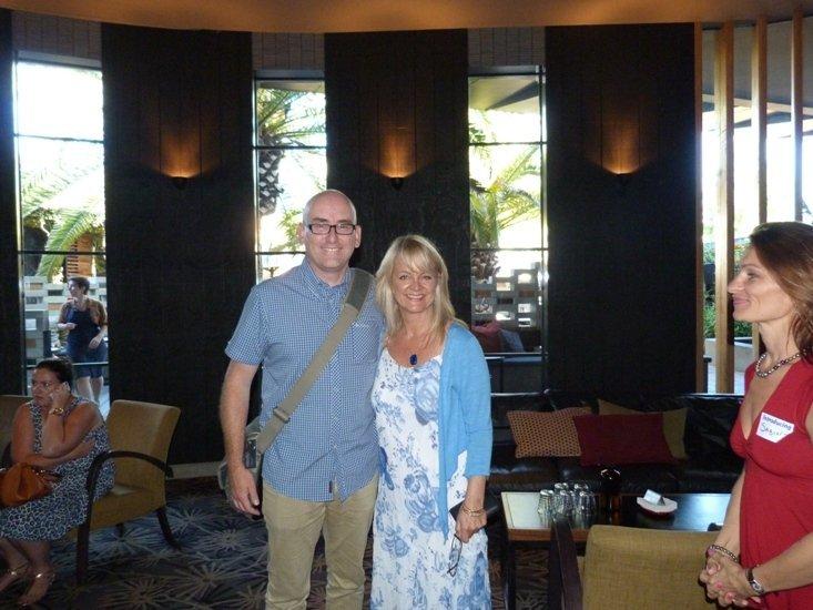 Darren Rowse and Johanna Castro at Perth ProBlogger Event Feb 2014