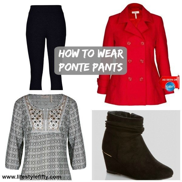 how to wear ponte pants