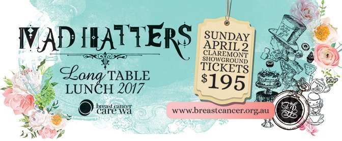Breast Cancer Care WA, Mad Hatters Long Table Lunch