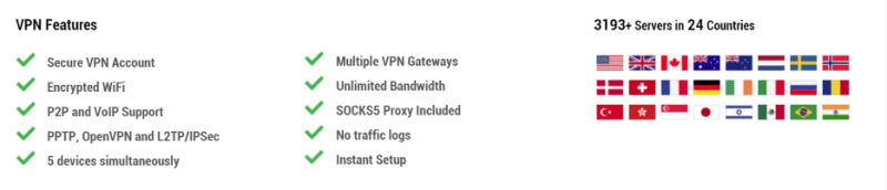 Private internet access servers