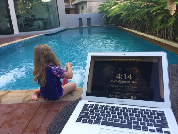 Macbook Air and Pool
