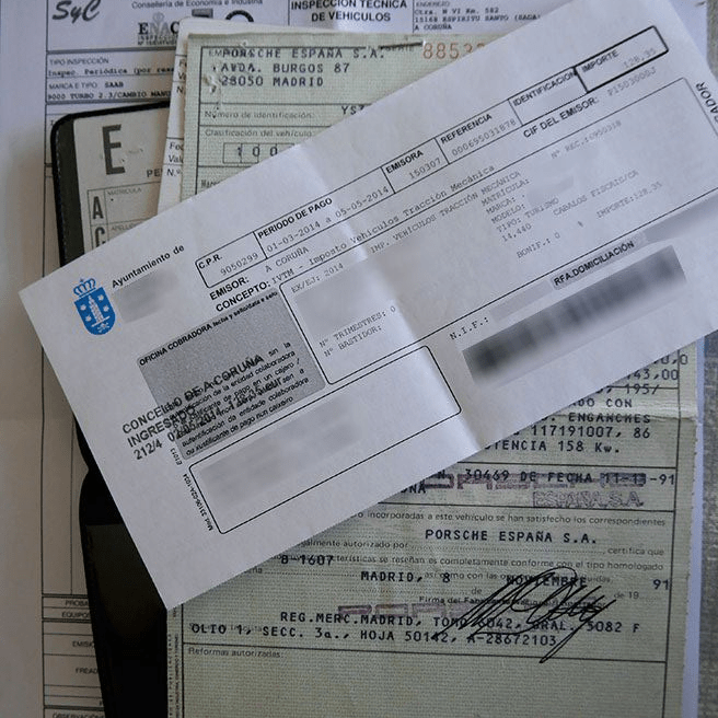Car and vehicle tax documents