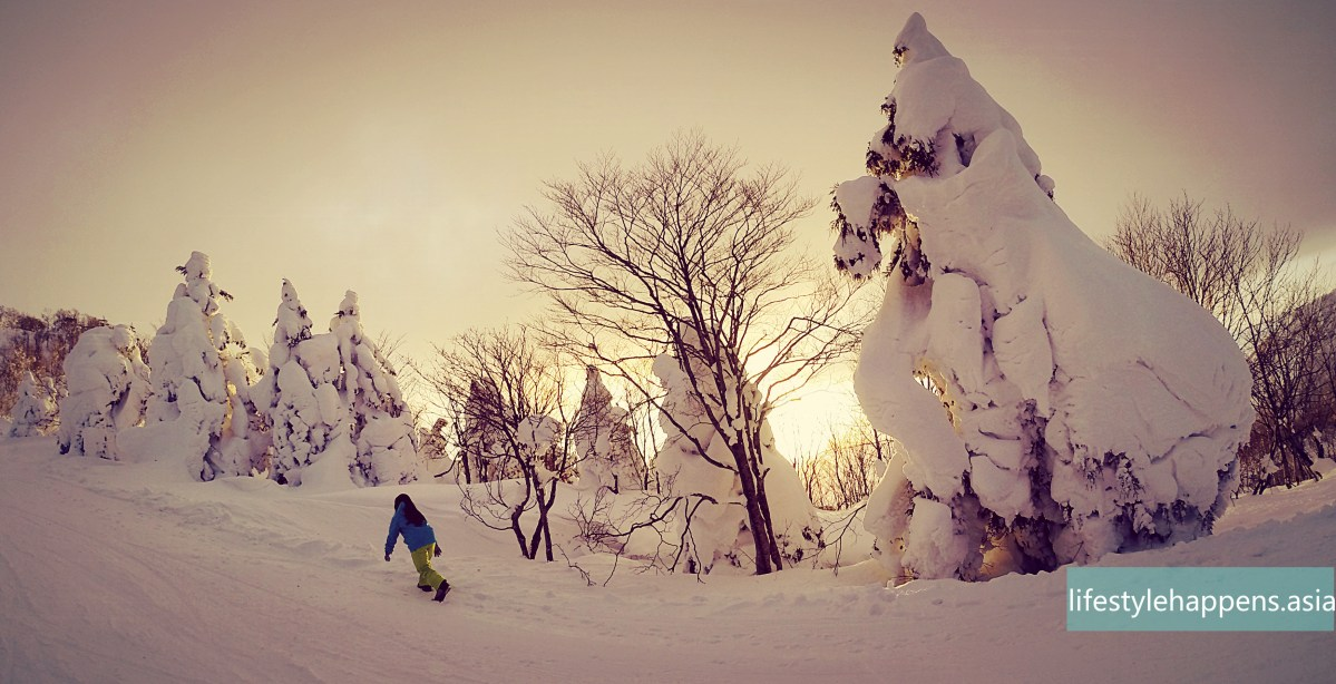 One day ski trip in Japan - Zao Onsen ski resort