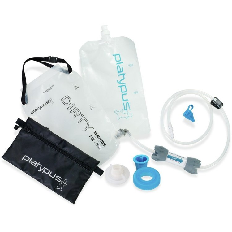 Gravity fed water filtration system by Platypus