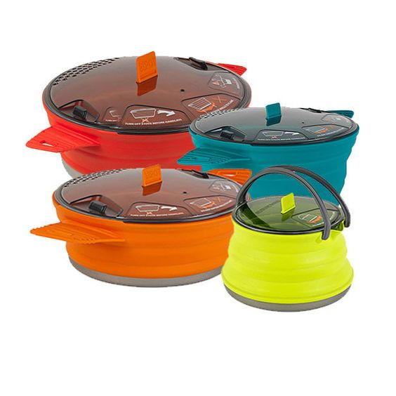 Collapsible Cooking Pots Camping Hiking Lightweight Easy Store