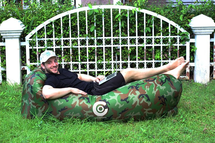 Lazy Camo Inflatable Couch | Beach Lounger
