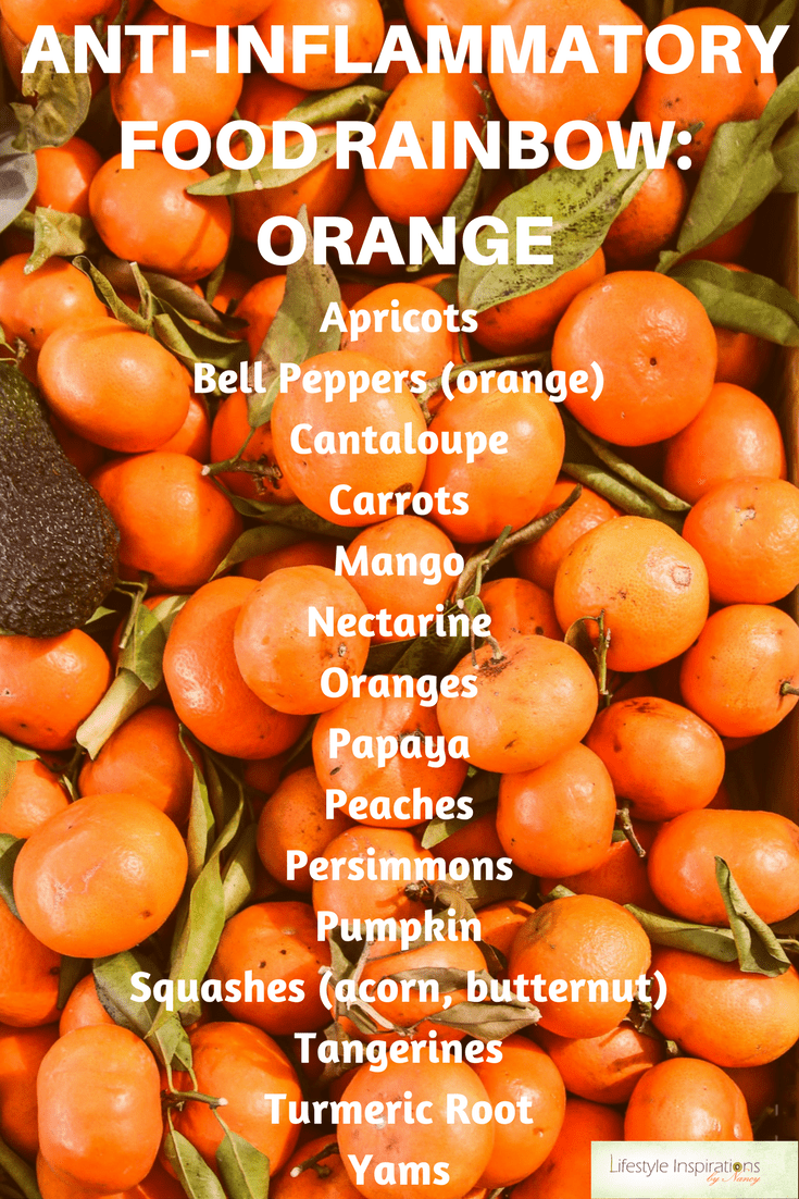 anti-inflammatory rainbow orange foods