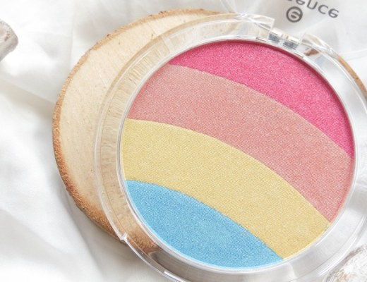 essence rainbow prismatic glow highlighter
