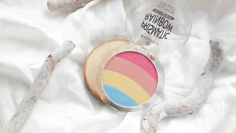 essence rainbow prismatic glow highlighter