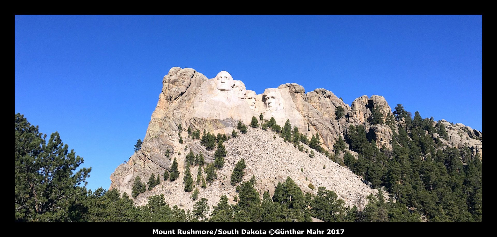 USA Road Trip Quer Etappen Mount Rushmore South Dakota