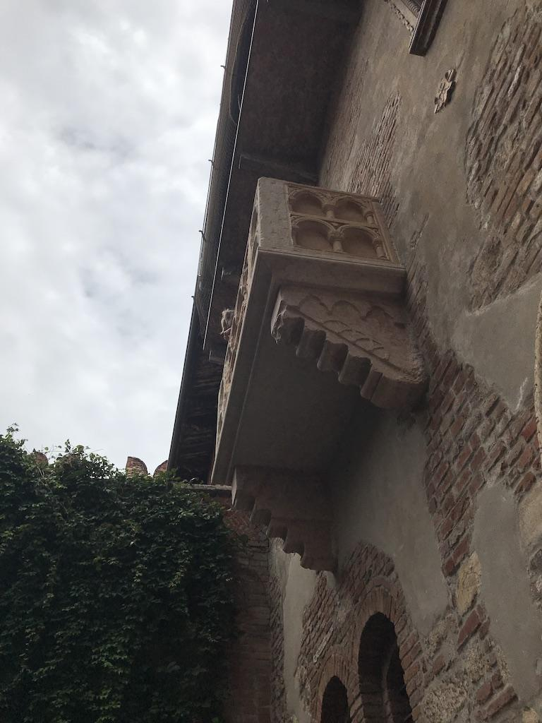 The balcony of Julia in Verona