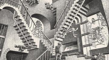 """(Roma) """"Escher"""" al Chiostro del Bramante: il genio tra arte e matematica"""