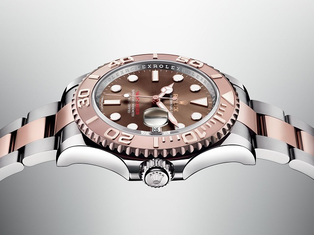 rolex- oyster perpetual -yacht-master-cinturino-acciaio-oro-rosa