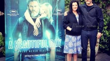 "Joaquin Phoenix e Lynne Ramsay presentano a Roma ""A beautiful day"""