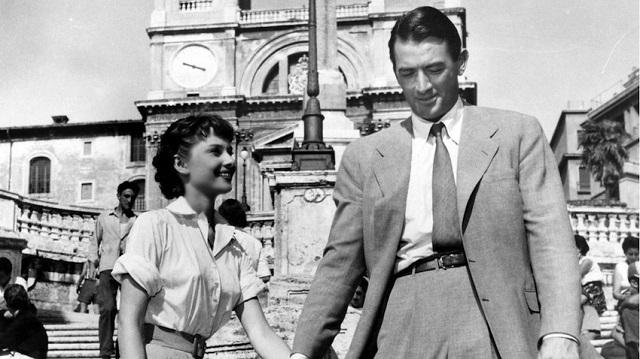 Haudrey Hepburn e Gregory Pech (Vacanze Romane)
