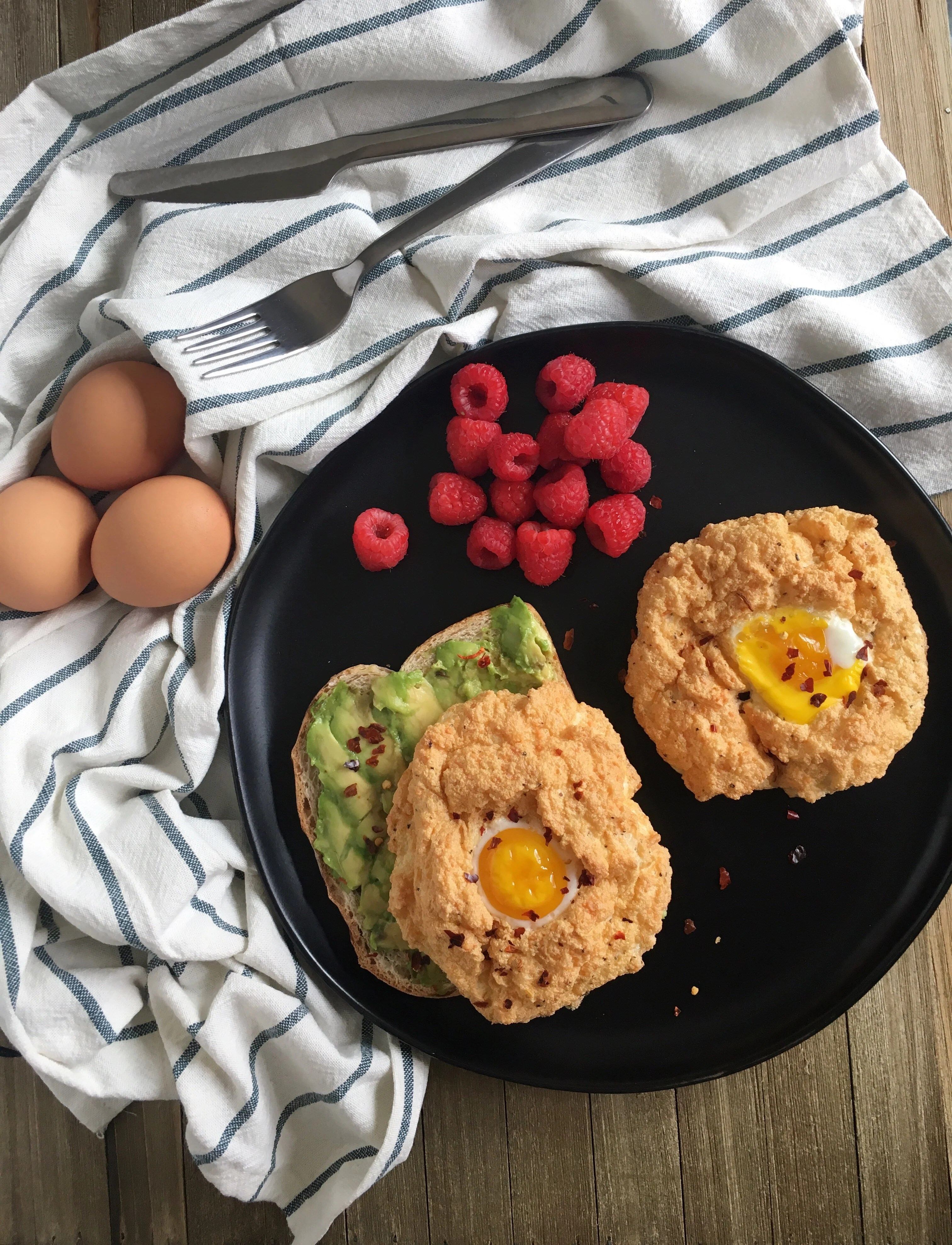 Deliciously fast  parmesan cloud egg recipe for breakfast