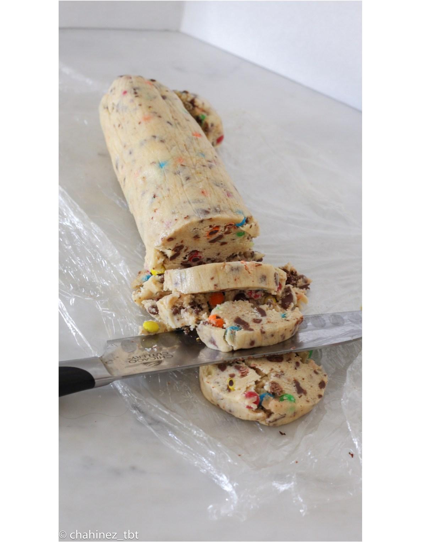 homemade Cookie dough log