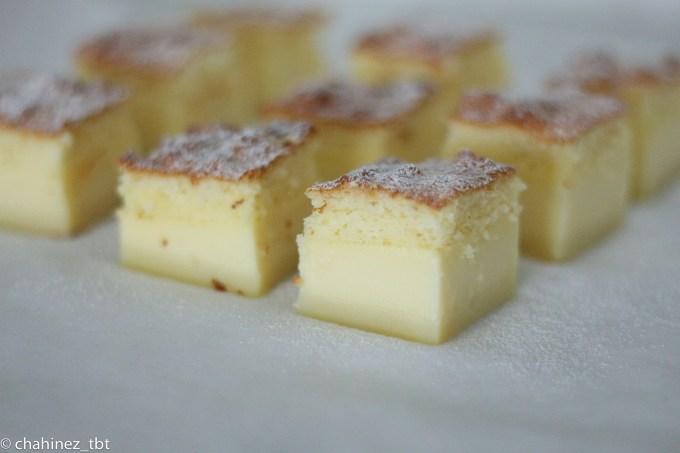 Vanilla magic cake with three different layers!