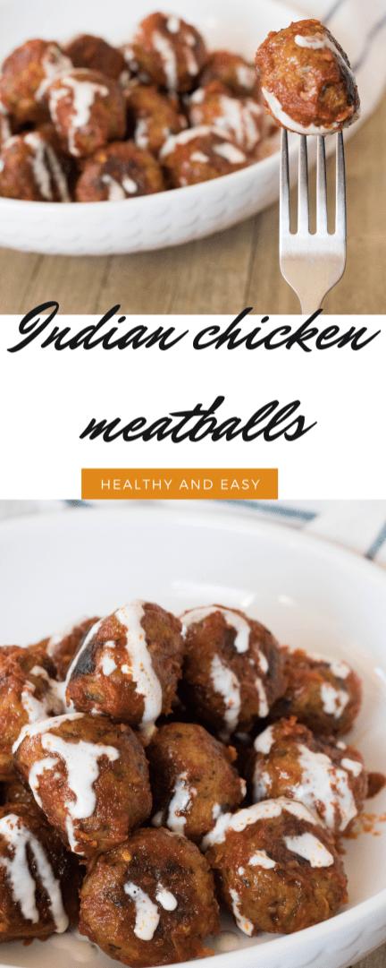Indian chicken meatballs pinterest