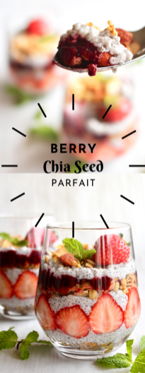 Berry chia seed parfait for pinterest
