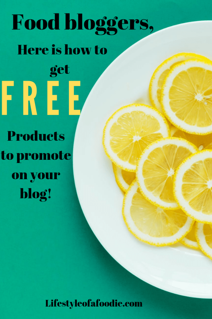 Food bloggers! here is how you can get free things to promote on your blog too!