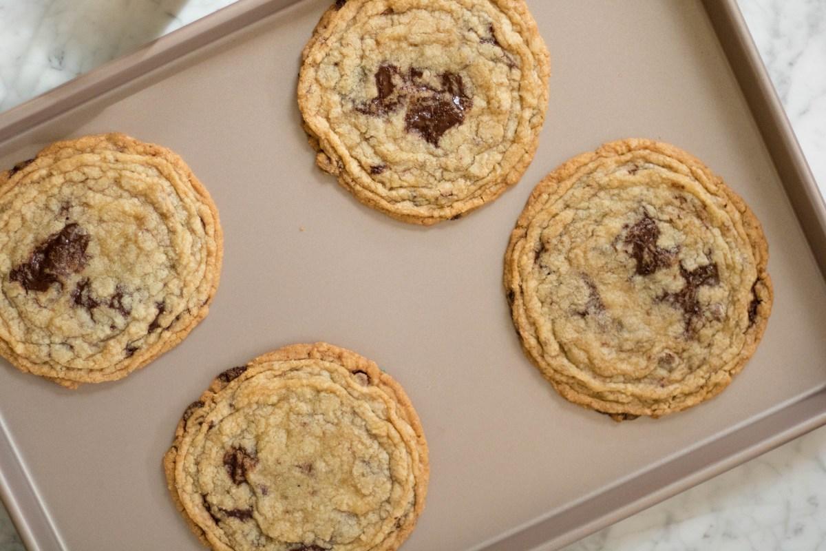 Sarah Kieffer's pan bangin cookie, Internet famous chocolate chip cookies