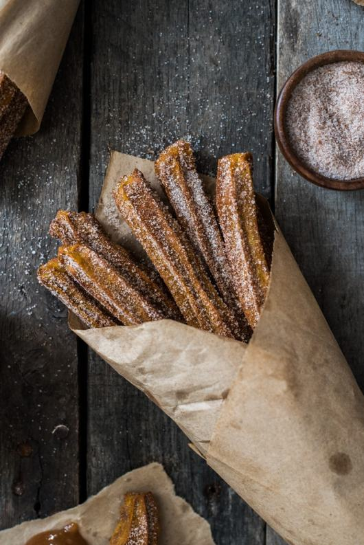 Baked Pumpkin churros for the pumpkin recipe collection