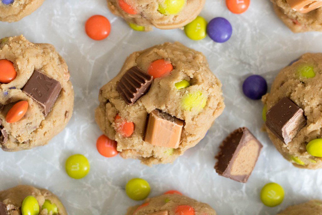 KitKat Reese's M&m's cookies before baking