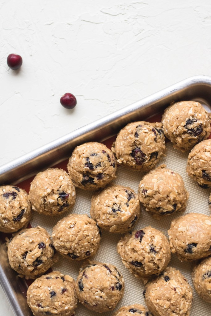 Raw holiday cookie dough