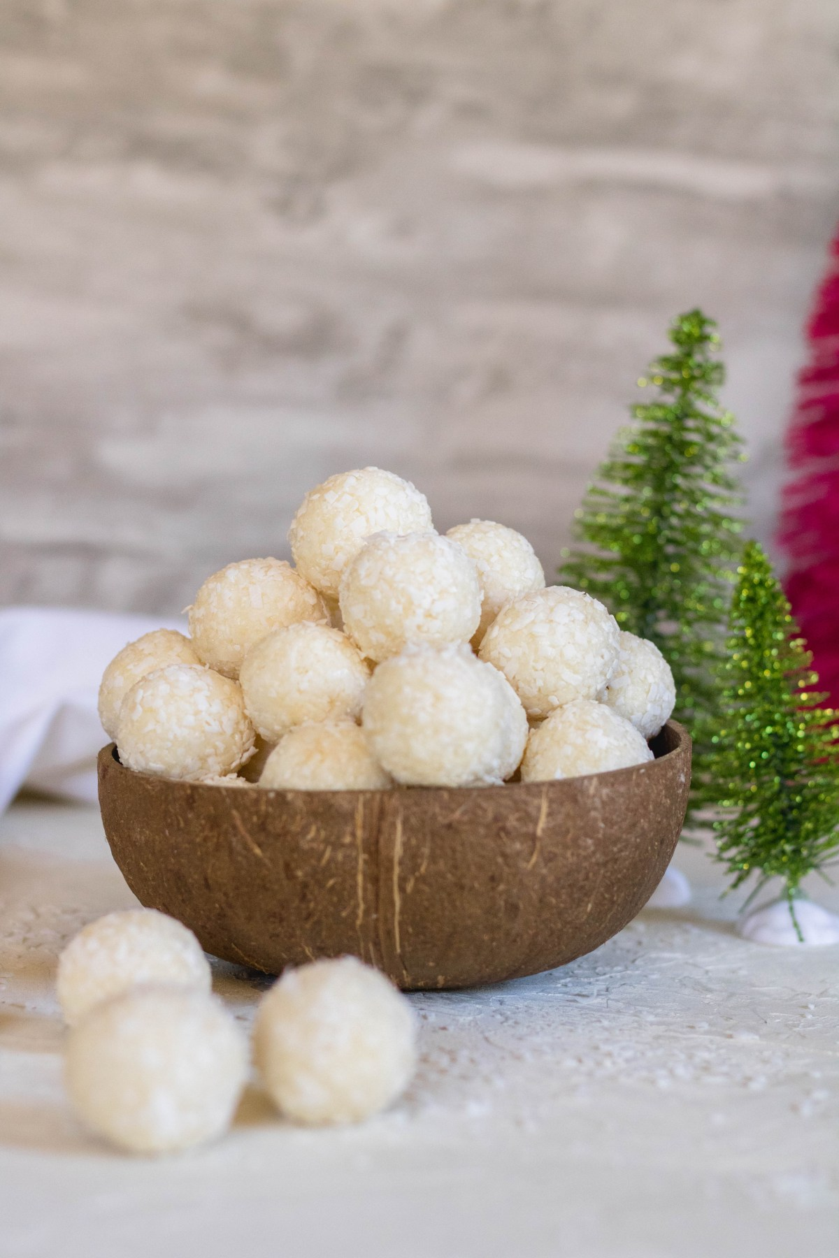 2 ingredient coconut truffles