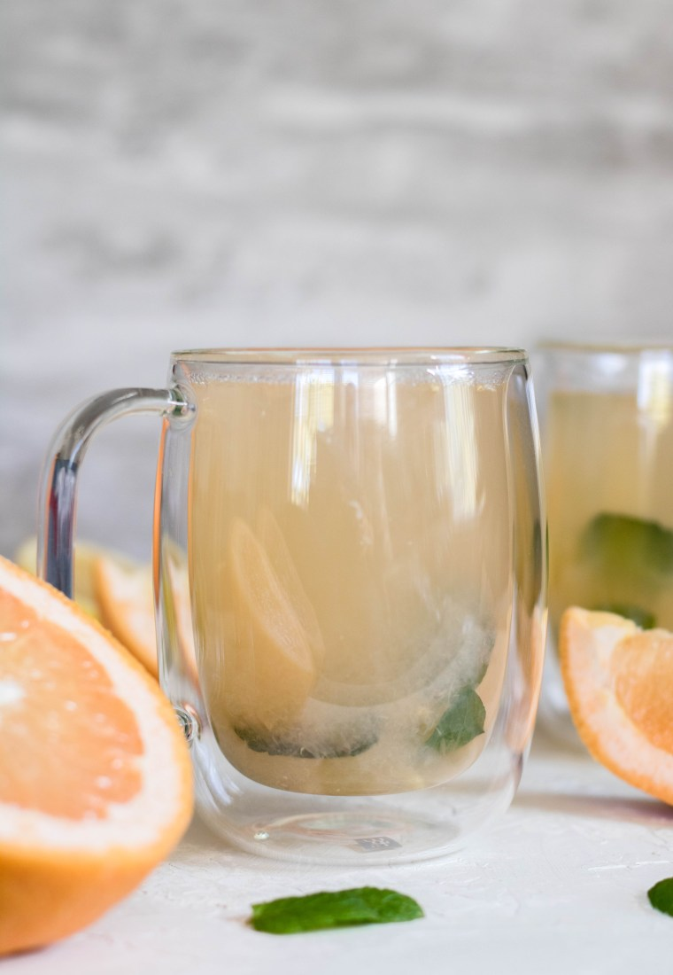 The best Detox Warm Grapefruit Tea