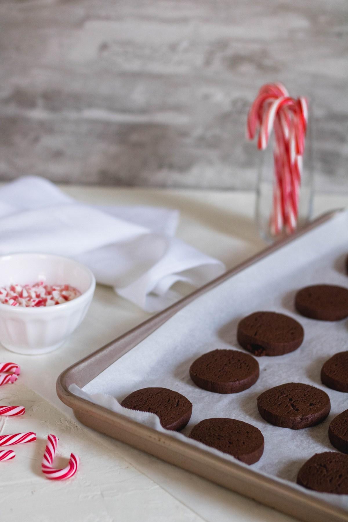 Baking chocolate peppermint crunch slice and bake cookiesa