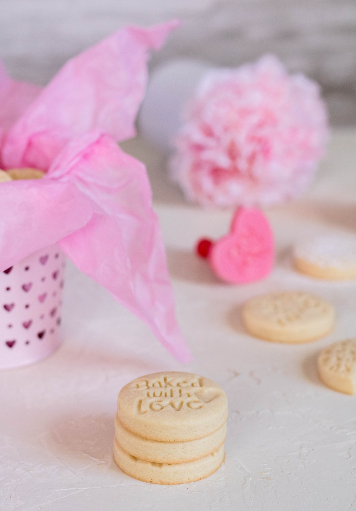 Valentine's day stamp shortbread cookies for the valentine's day cookie dieas