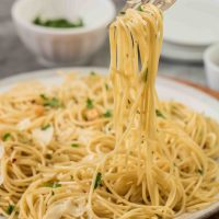 Spaghetti Aglio e Olio (pasta with garlic and oil)