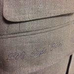リネンスーツ|フラップポケットに刺繍