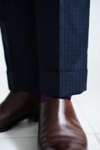 カジュアルタキシードギンガムチェックの裾口仕上げ lifestyleorder