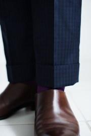 カジュアルタキシードギンガムチェックの裾口仕上げ|lifestyleorder