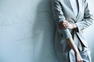 カジュアルなストライプ柄のレディースオーダースーツ|lifestyleorder