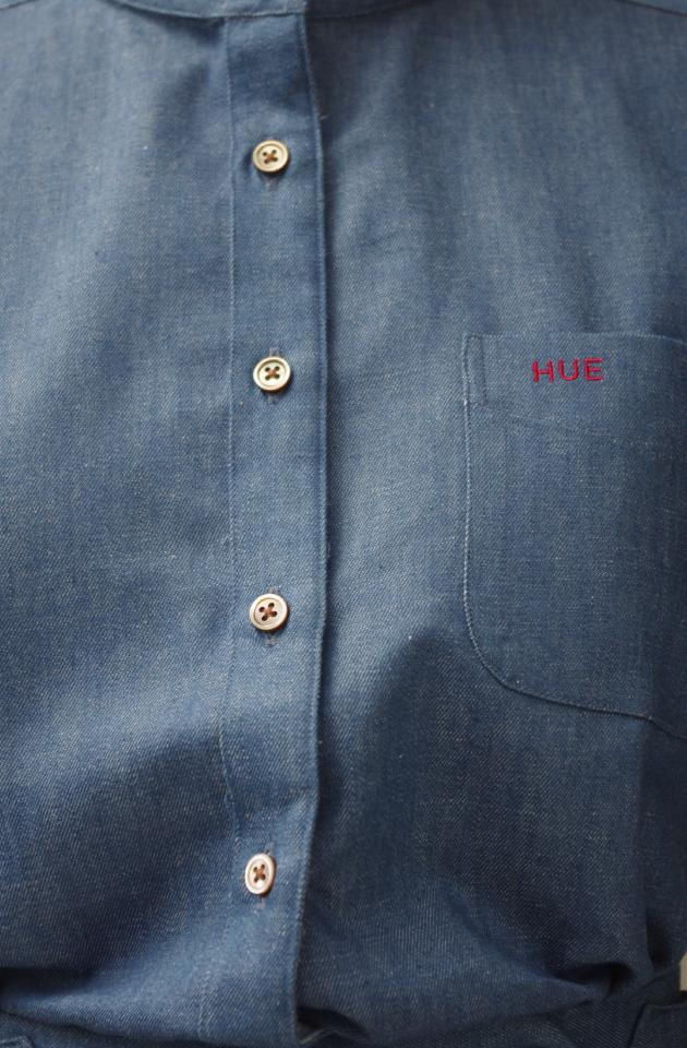 レディースシャツ胸ポケット刺繍