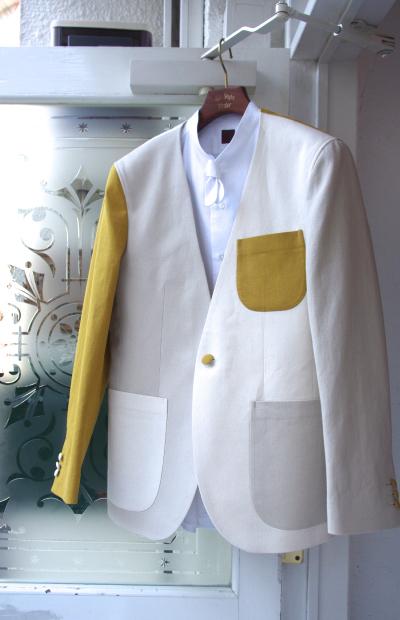 ノーカラージャケット|クレイジーパターン