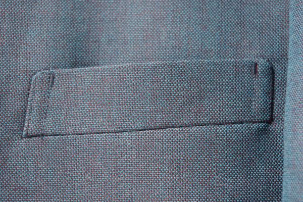 ノーカラースーツ|胸ポケット