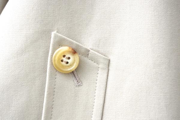 オーダートレンチコート|ハコ貫通ポケットボタン